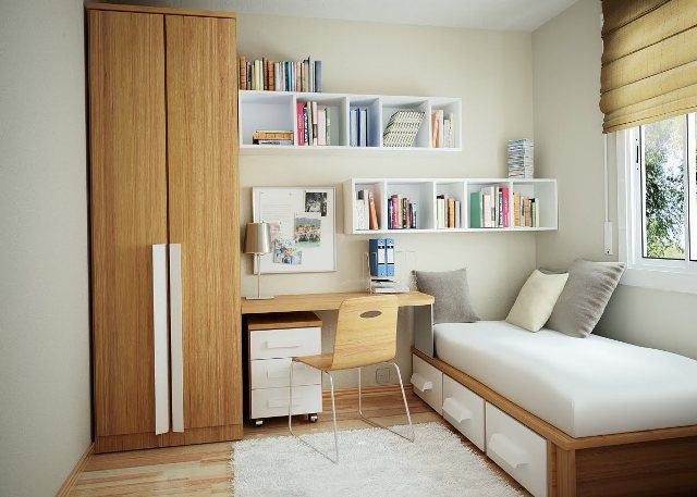 how to make small room look spacious