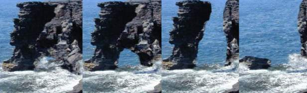 Erosion effect on the structure