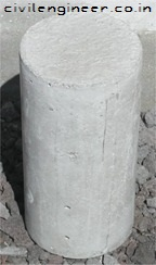 Test concrete cylinders