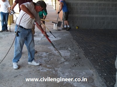 repair concrete by materials