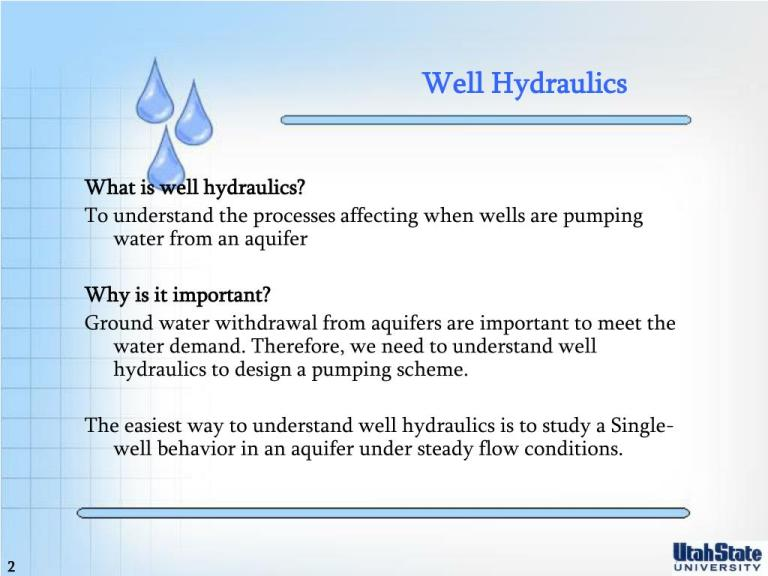 Read more about the article Well Hydraulics