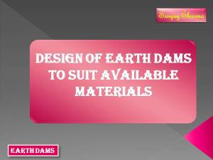 Available Materials of earth dams