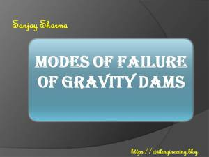 MODES OF FAILURE OF GRAVITY DAMS