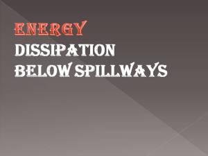 Energy dissipation below spillways