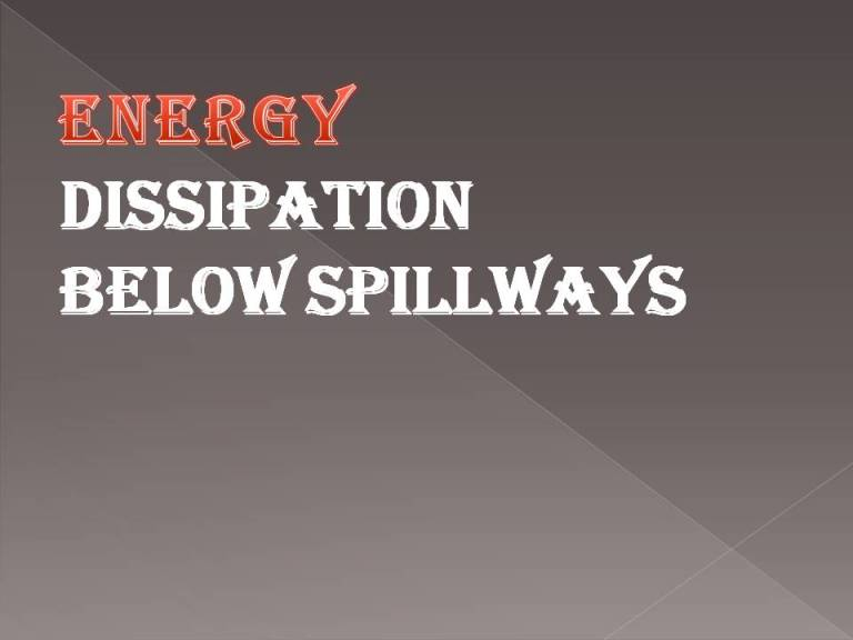 Read more about the article Energy dissipation below spillways