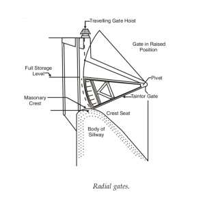 Tainter gate or Radial gates