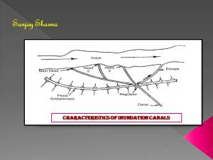 Characteristics of inundation canals