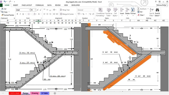 Excel Spreadsheet For Rcc Dog Legged Staircase   Lift And Staircase Design   Stair Railing   Glass Elevator   U Shaped Staircase   Staircase Ideas   Staircase Remodel