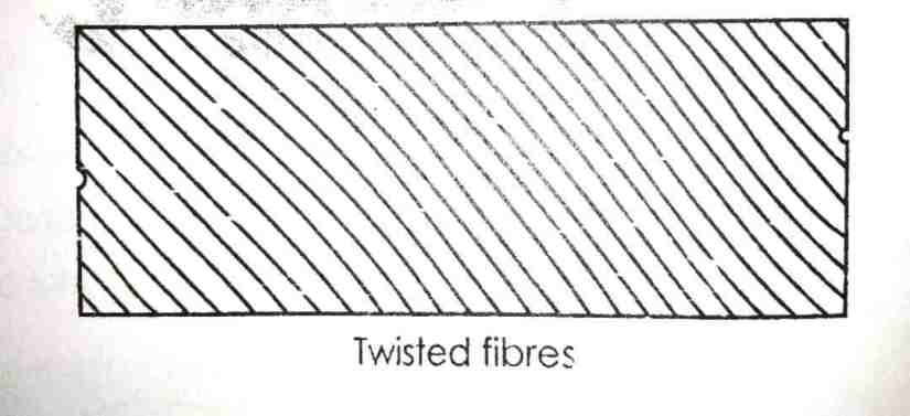 twisted fibers timber defect