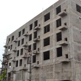 brick on building