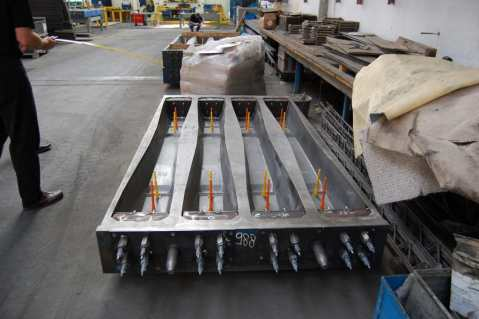 Railway sleepers manufacturing process
