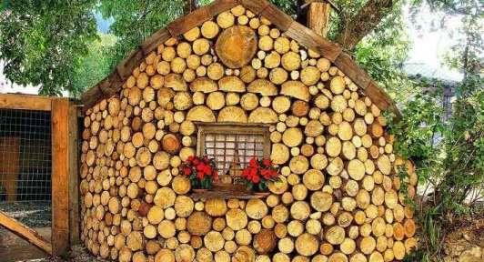 green building material- cordwood