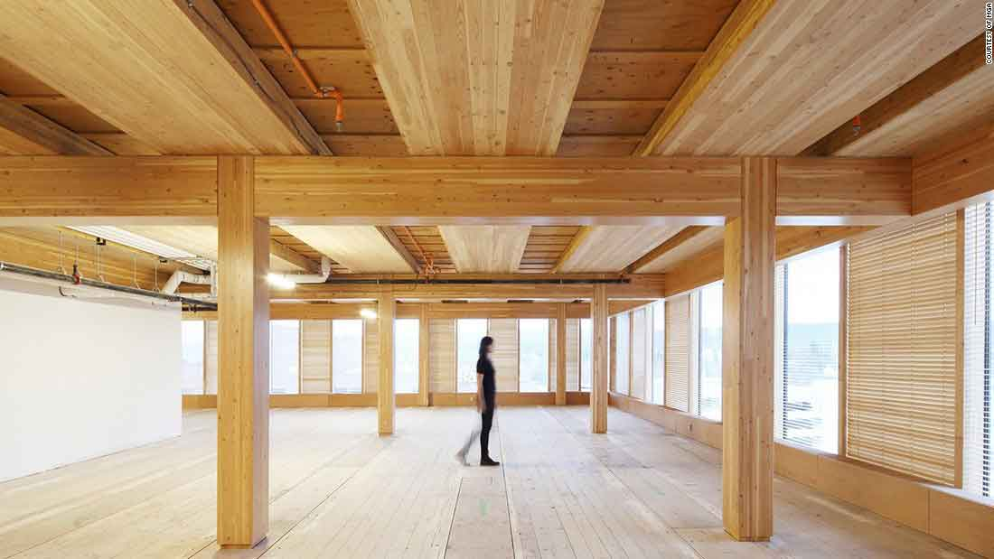 cross laminated timber as green building material