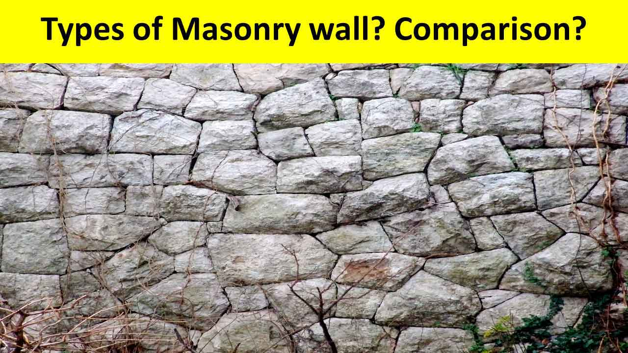 Different types of masonry walls