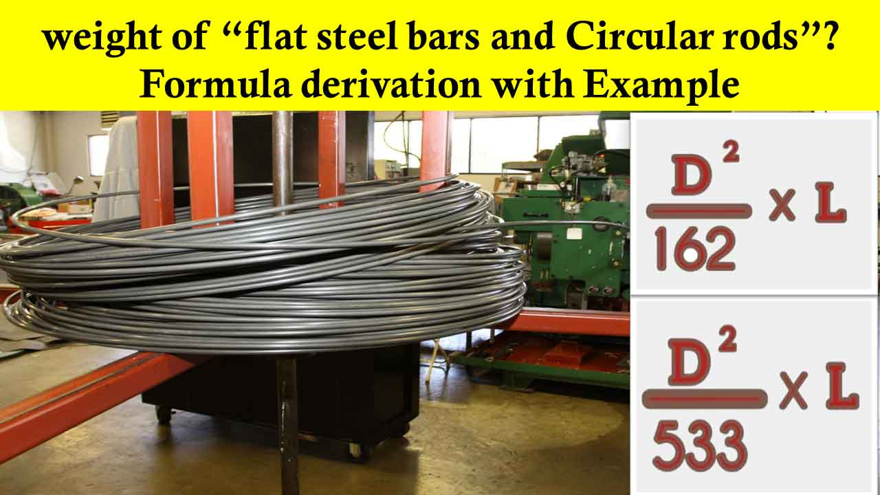 How to calculate the weight of steel flat bars and Circular rods?