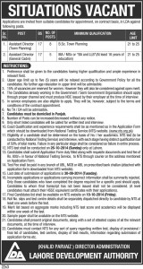 situations vacant LDA