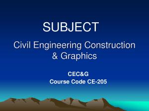 Civil Engineering Construction Graphics