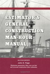 estimators-general-construction-manhour-manual-second-edition-john-s-page-paperback-cover-art