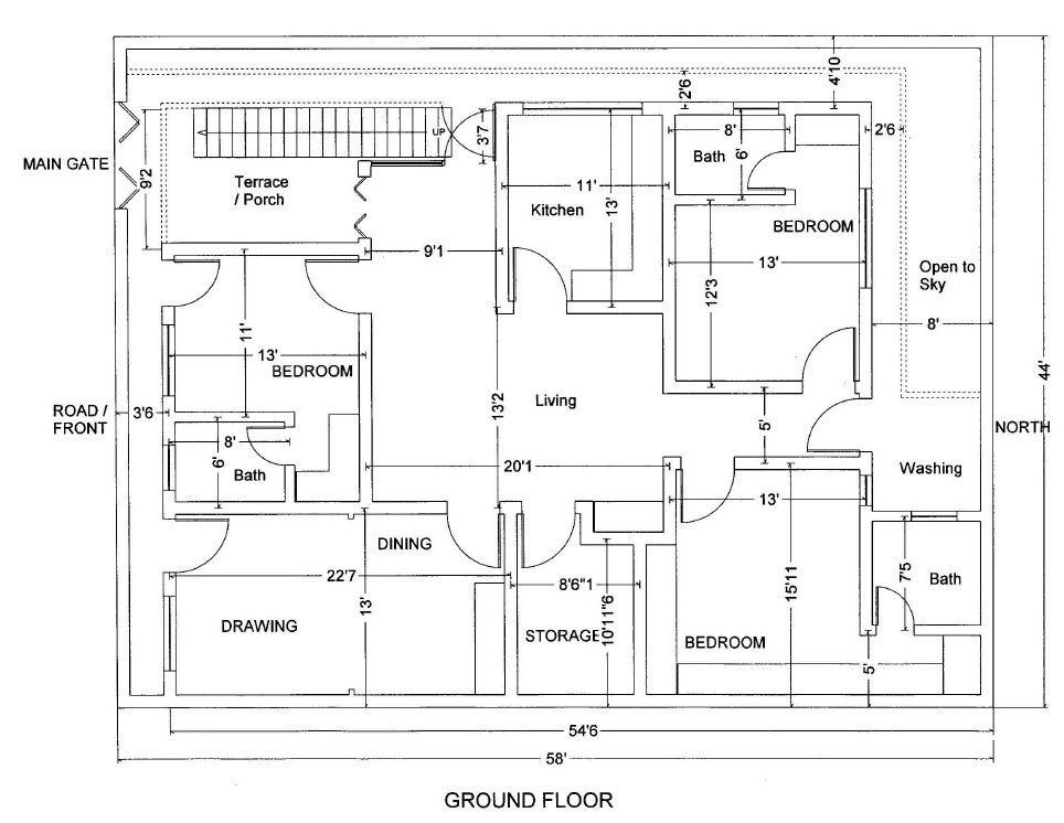 10 marla house plans civil engineers pk for Create your house plan