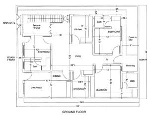 10 Marla House Plans Civil Engineers Pk
