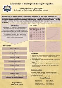 Amelioration of Swelling Soils
