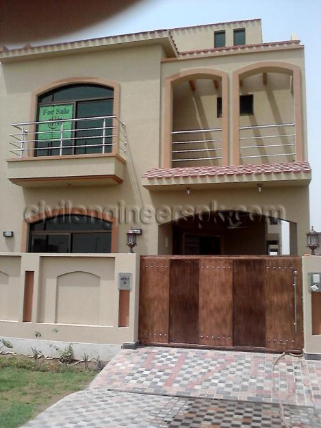 Front views civil engineers pk for Beautiful house maps in pakistan