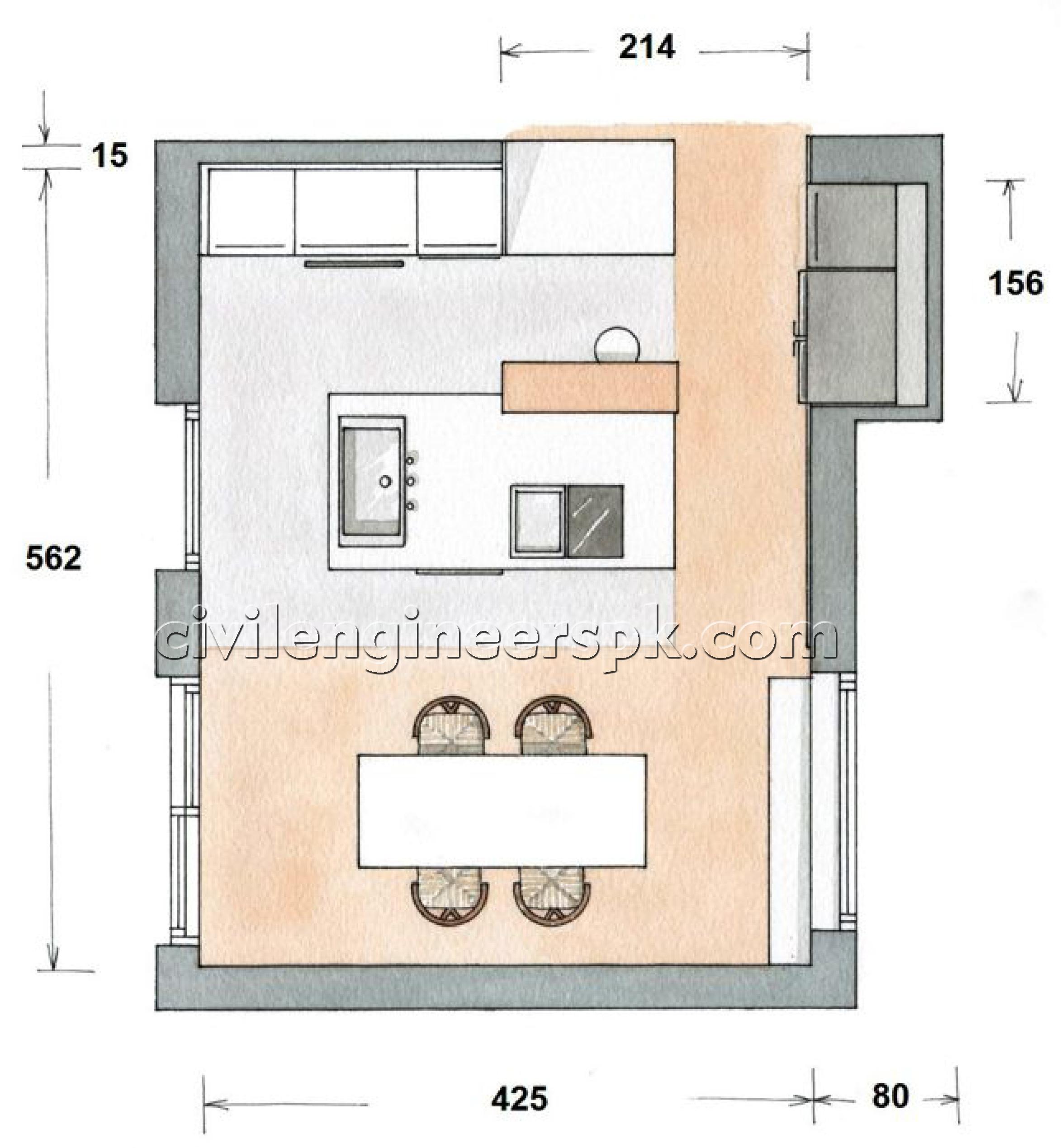 Kitchen designs 14 18 civil engineers pk for Civil kitchen designs