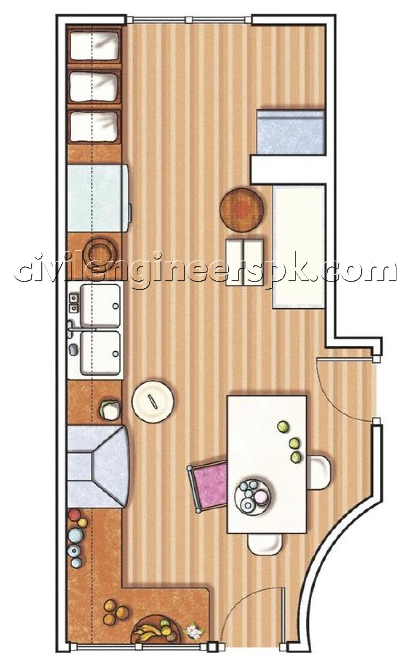 Kitchen designs 19 23 civil engineers pk for Civil kitchen designs
