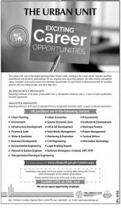 Jobs in Urban Unit