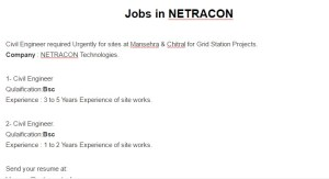 Jobs in NETRACON