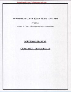 Solution Manual Fundamentals of Structural Analysis Leet Uang Gilbert