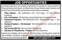 Sunday Jobs Civilengineerspk 20-11-2016