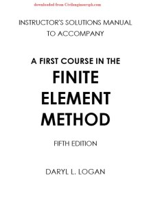 Solution Manual A first Approach to Finite Element Method