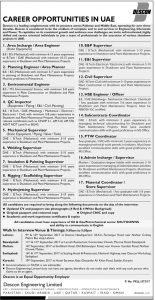 Sunday Jobs Civilengineerspk 27-8-2017