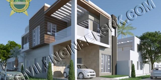 New 6 Marla Corner House Design