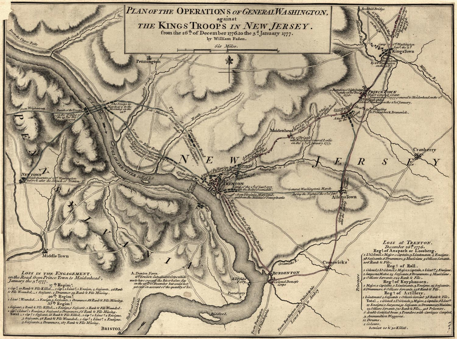 Great Old Revolutionary War Battle Maps Click To Enlarge