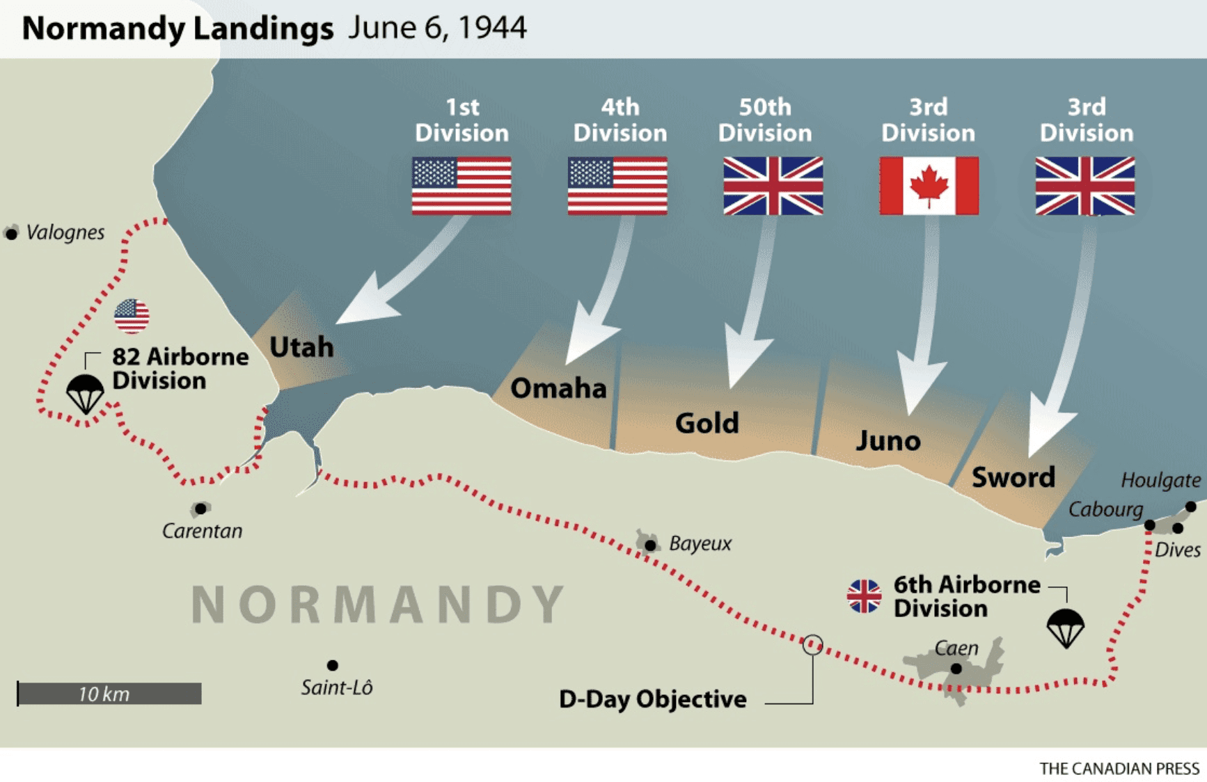 D Day Invasion Maps