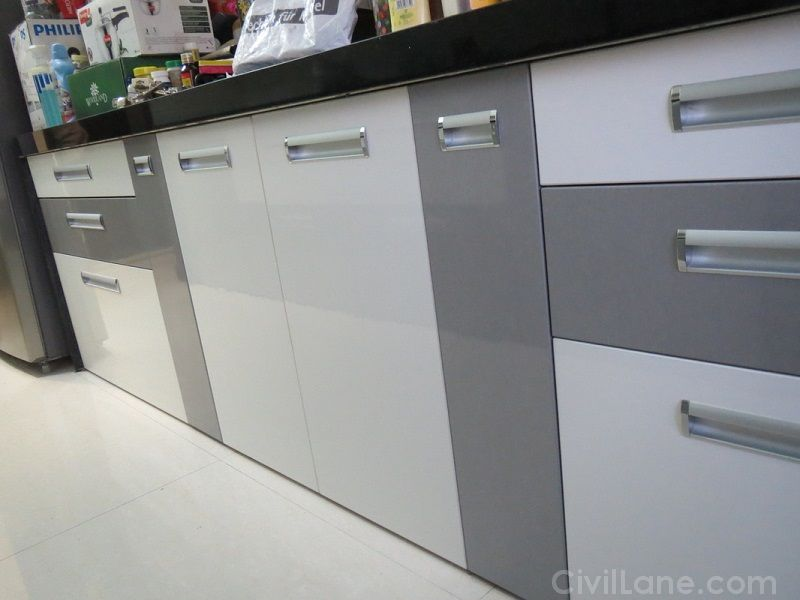 PU Finish Modular Kitchen