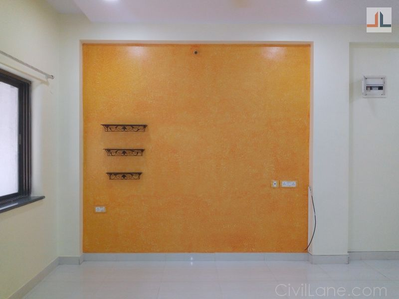 Wall painting texture design orange yellow color