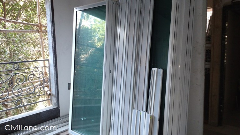 Aluminium sliding anodized window rate with material labour mumbai