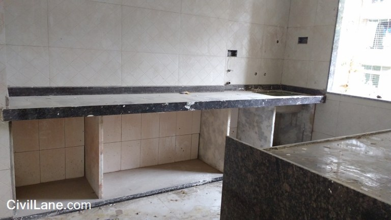 Black granite kitchen platform rates with material and labour mumbai