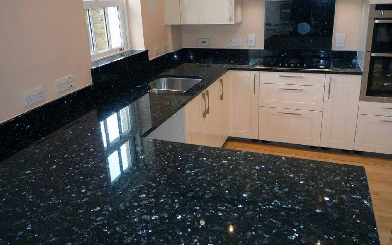Black pearl italian granite kitchen countertop