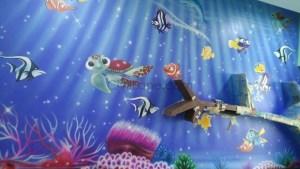 Kids Room Aquarium Painting