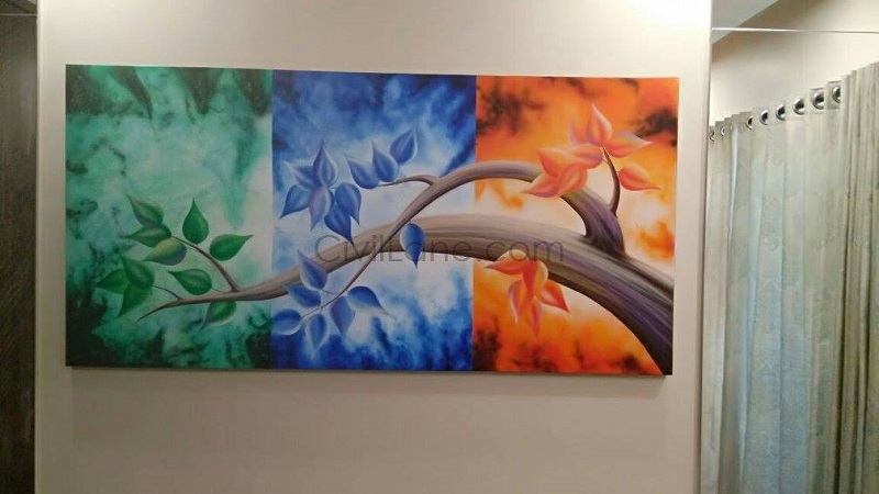 Office Waiting Area Wall Painting