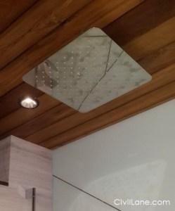 Wooden bathroom false ceiling material alternative