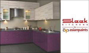 Sleek Modular Kitchen Asian Paints