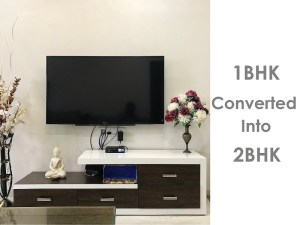 Converted 1BHK to 2BHK- 500 Square Foot