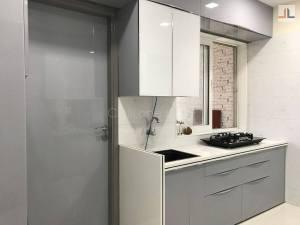Acrylic Modular Kitchen Design Grey White Color Kandivali East Mumbai (7)