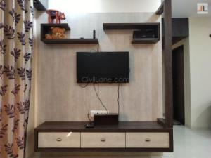 Modular TV Unit Design For 2BHK Flat Thane Hiranandani Estate