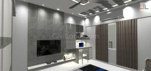 TV Unit Furniture Design For Livinroom Grey Color Mumbai